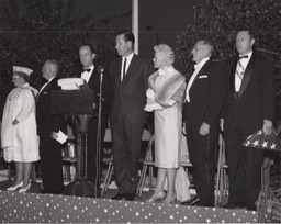 Flag pole dedication San Bernardino Masonic Temple 1964
