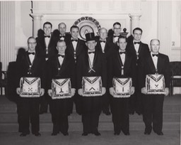 Officers of San Bernardino Masonic Lodge February A.D.1955